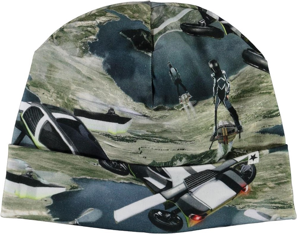 Nico - Up In The Air - Hat with spaceship print