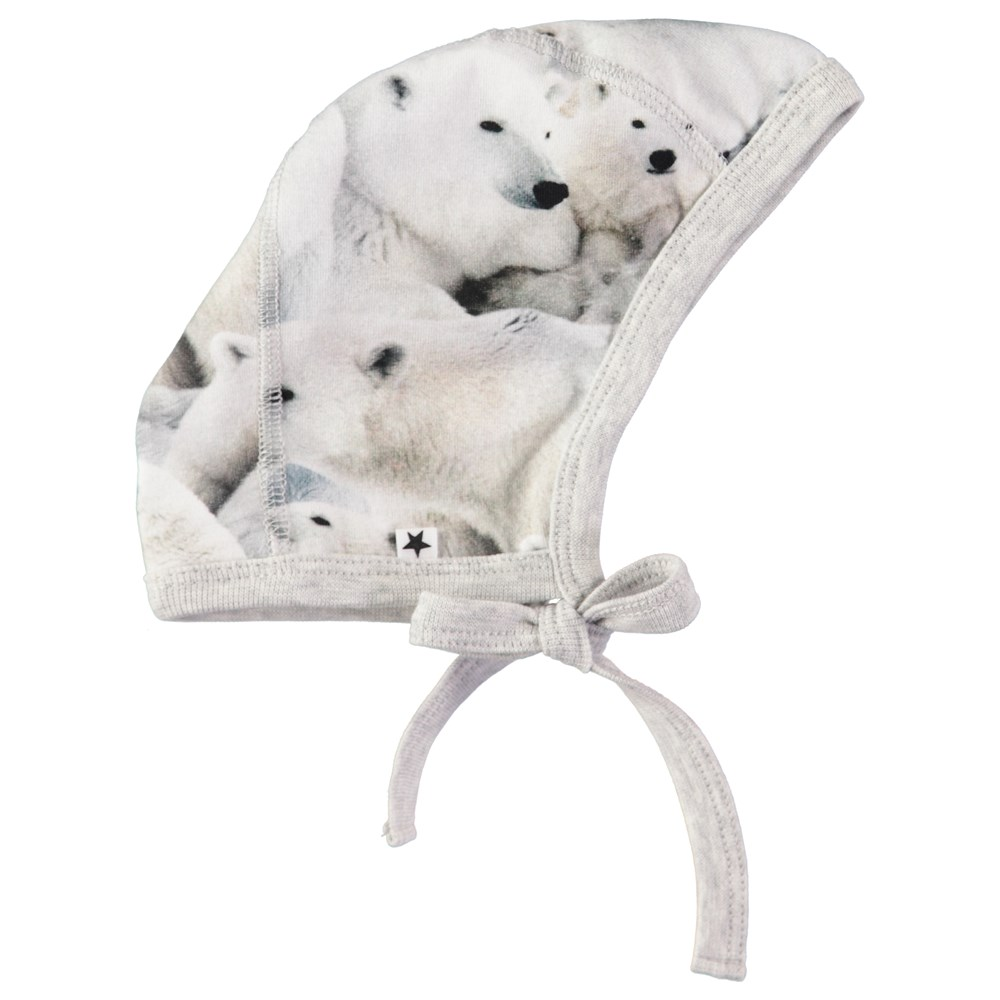 Ninna - Polar Bear Jersey - Baby hat with digital polar bear print