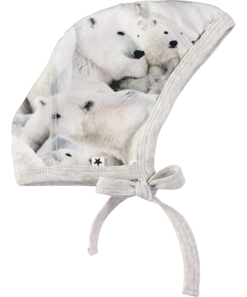 Ninna - Polar Bear Jersey - Baby hat with digital polar bear print ... 255ee1f07f5
