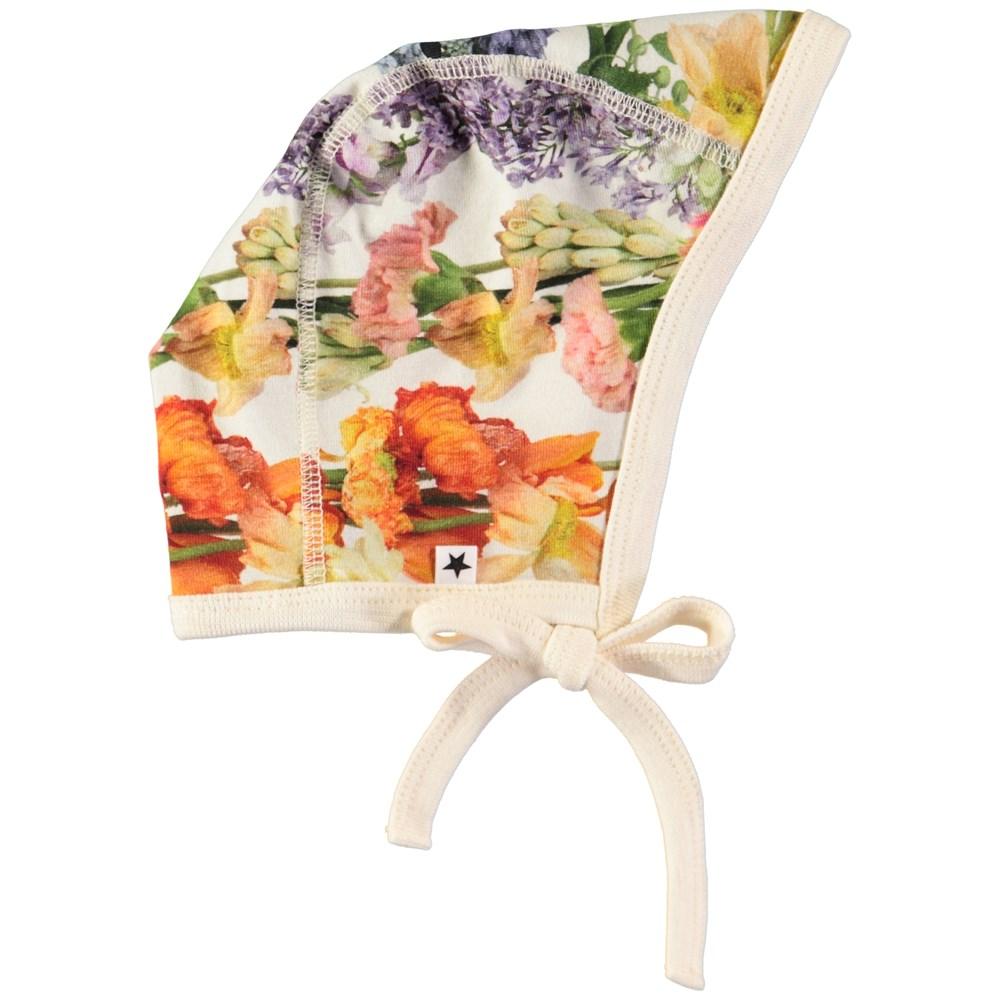 Ninna - Rainbow Bloom - Baby hat with digital flower print