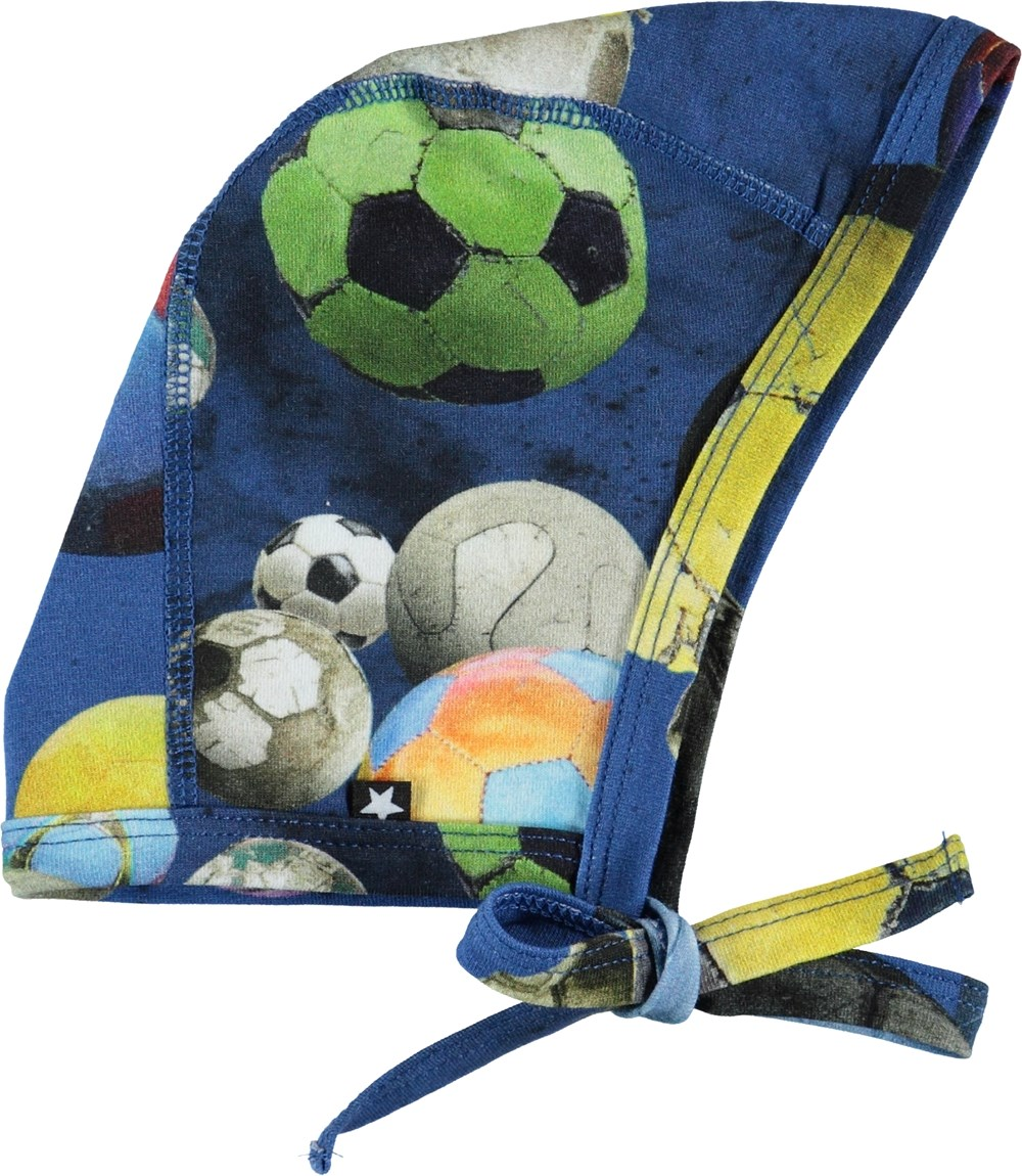 Nis - Cosmic Footballs - Baby hat with footballs.