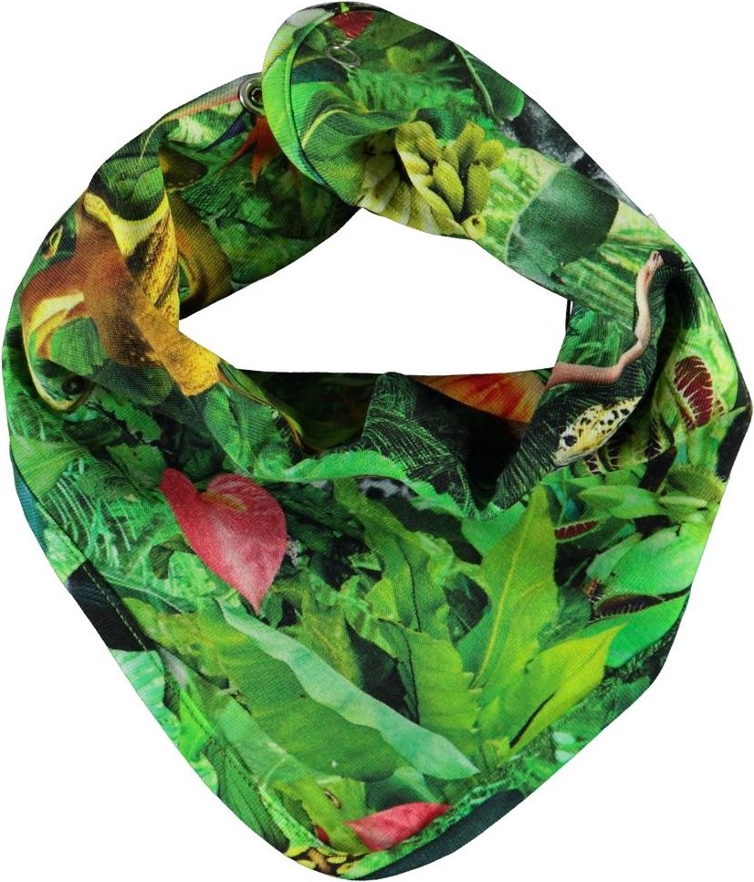 Nishi - Fantasy Jungle - Green bib with animals