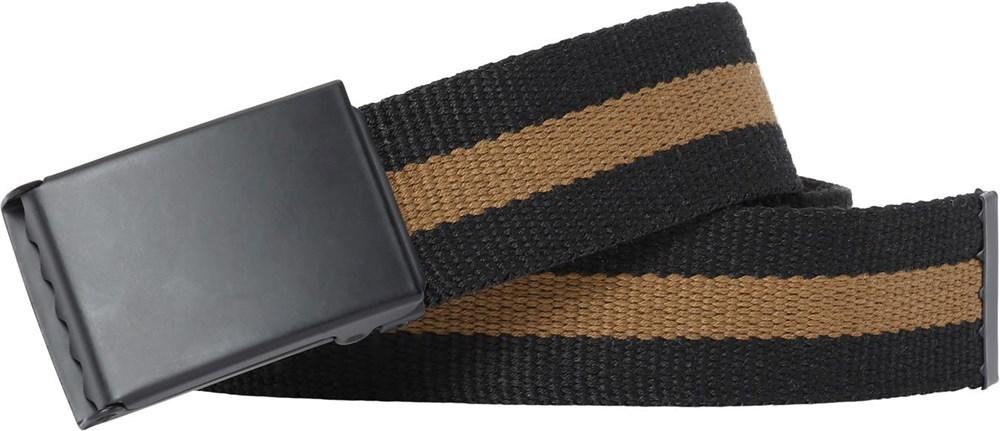 Nite - Black - Black and brown striped belt