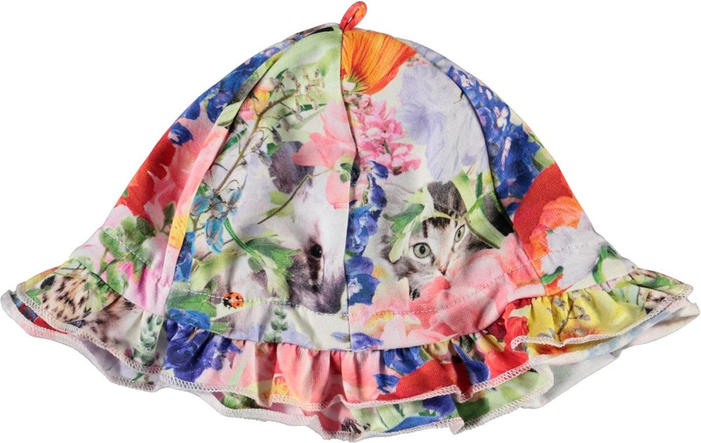 Nizana - Hide And Seek - Baby sun hat with floral print