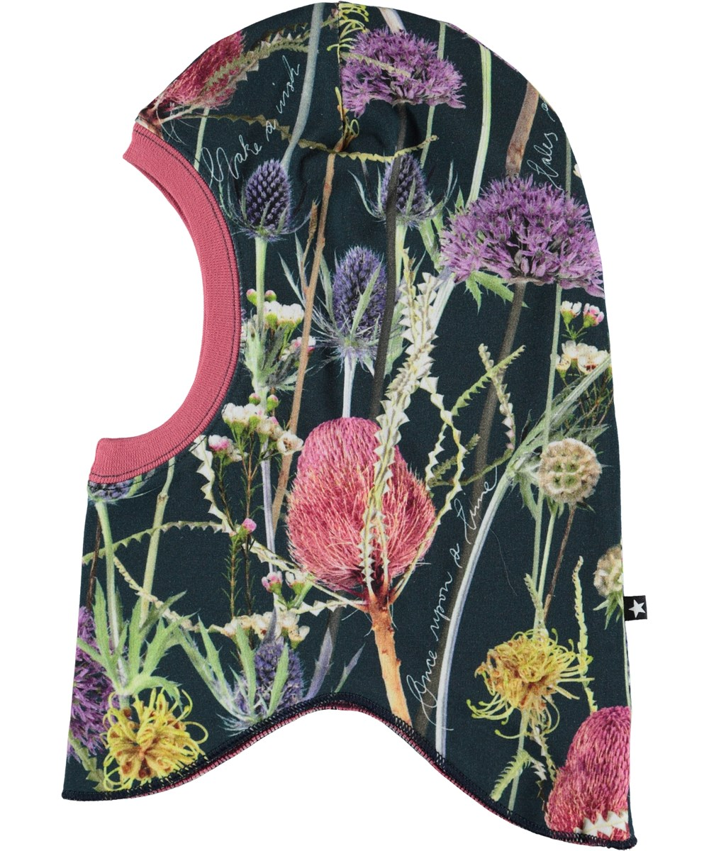 Novella - Sleeping Beauty - Ski mask with flowers.
