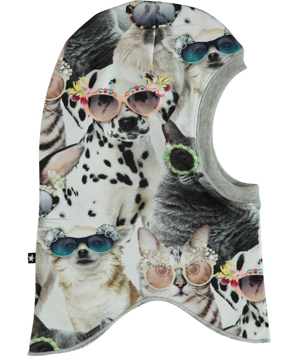 Novella - Sunny Funny - Ski mask with animal print.