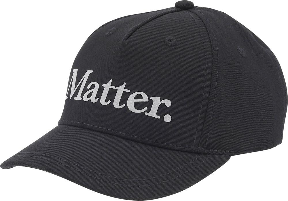 Sebastian - Black - Cap with Matter text.