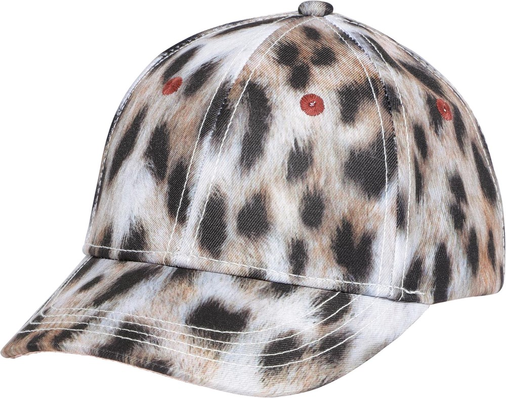 Sebastian - Snowy Leo Fur - Snow leopard printed sports cap