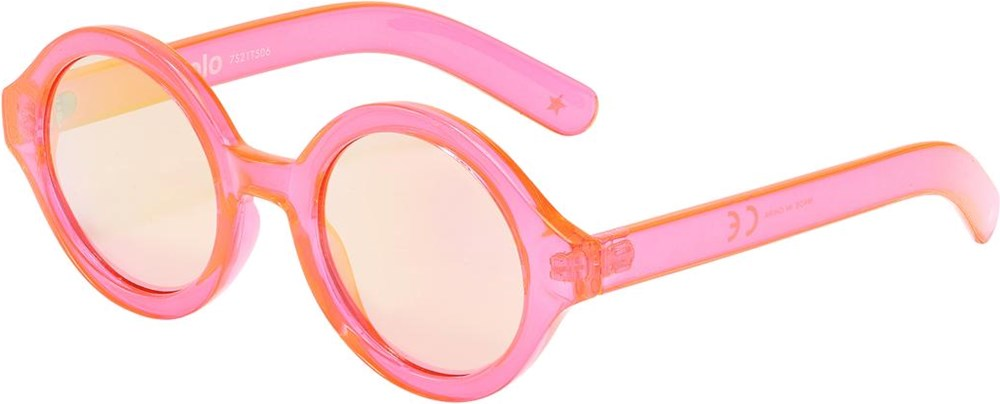 Shelby - Neon Coral - Neon pink sunglasses