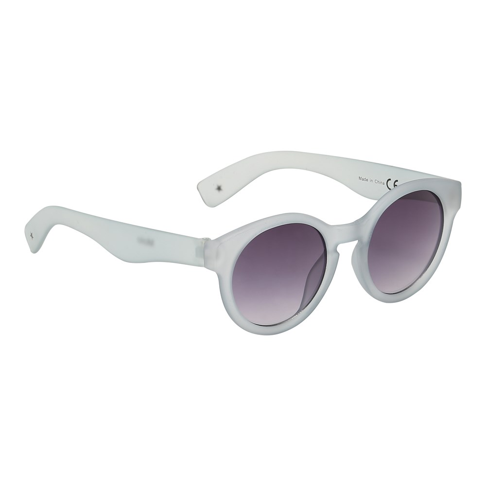 Shine on - Pearled Blue - Round grey sunglasses