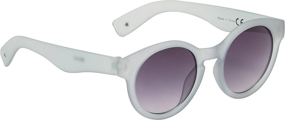 Shine on - Pearled Blue - Round grey sunglasses