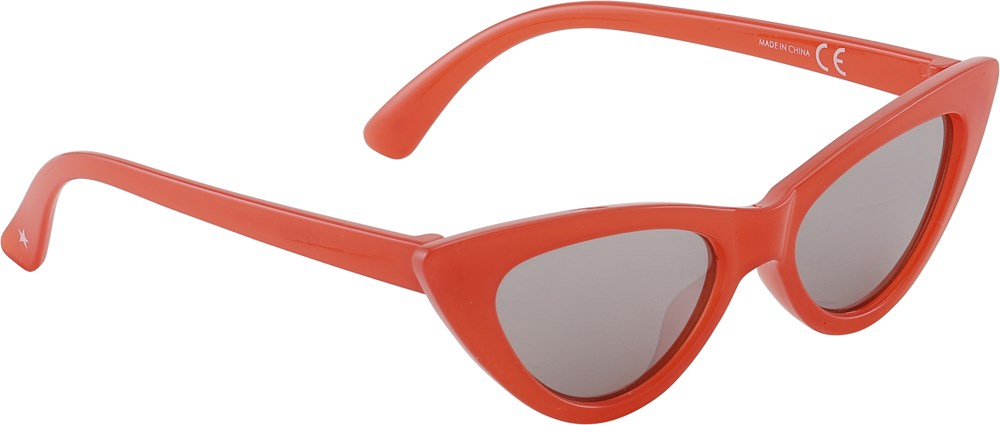 Sola - Coral Red - Red cat eye sunglasses