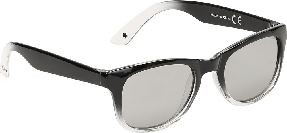 Star - Black - Black and white sunglasses