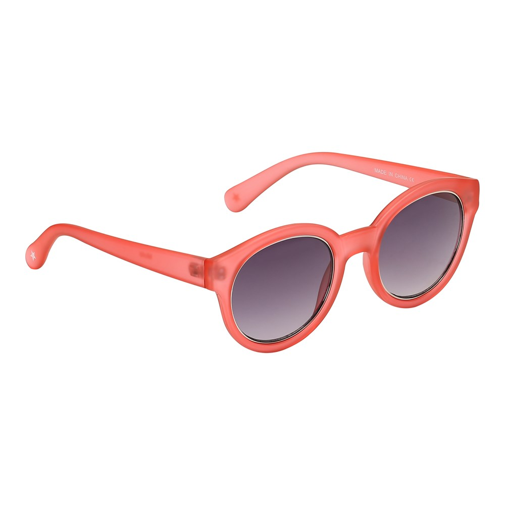 Sunnie - Georgia Peach - Round orange-red sunglasses