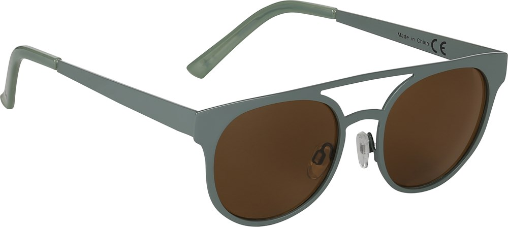 Sunset - Sea Spray - Sunglasses in green metal frame