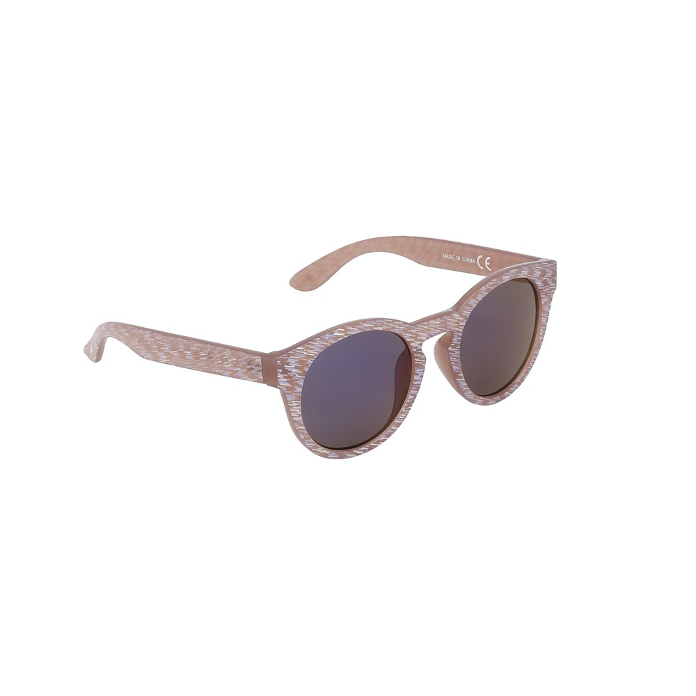 Sylvia - Rose Sand - Beige sunglasses with glitter