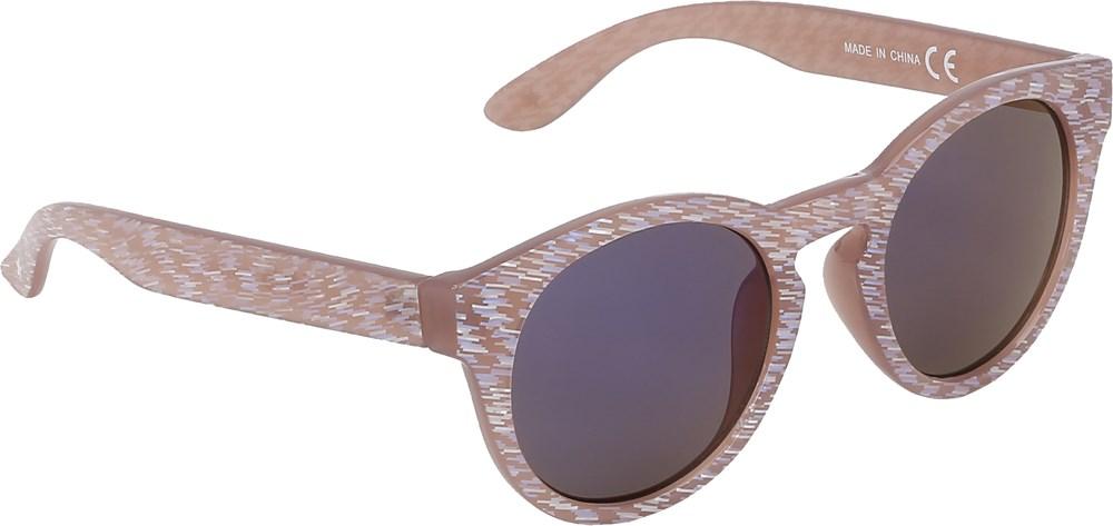 Sylvia - Rose Sand - Beige sunglasses with glitter