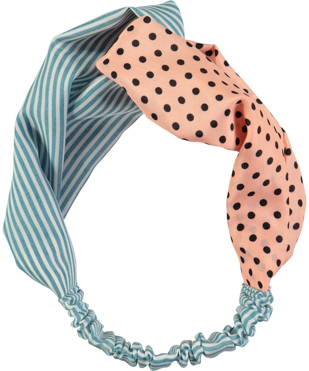 Woven Hairband Mix Lovely Elastic With Stripes And Dots Hair Band