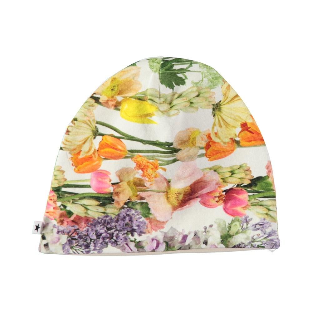 Nedine - Rainbow Bloom - Simple hat with digital flower print