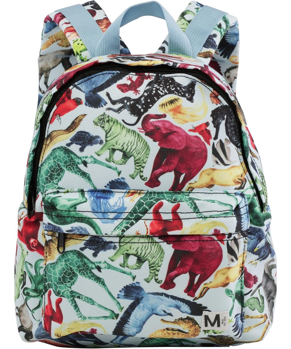 Backpack - Colourful Animals - Recycled backpack with animal print