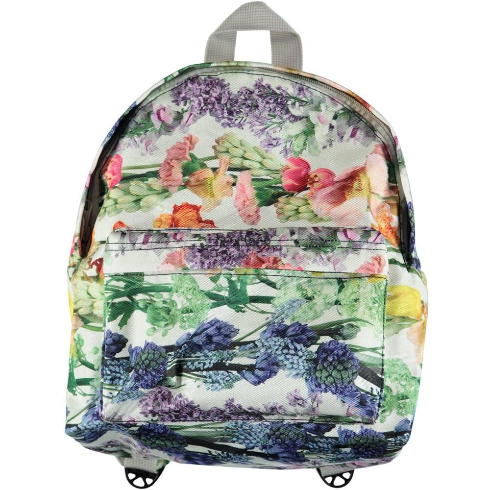Backpack - Rainbow Bloom - Rucksack with digital flower print