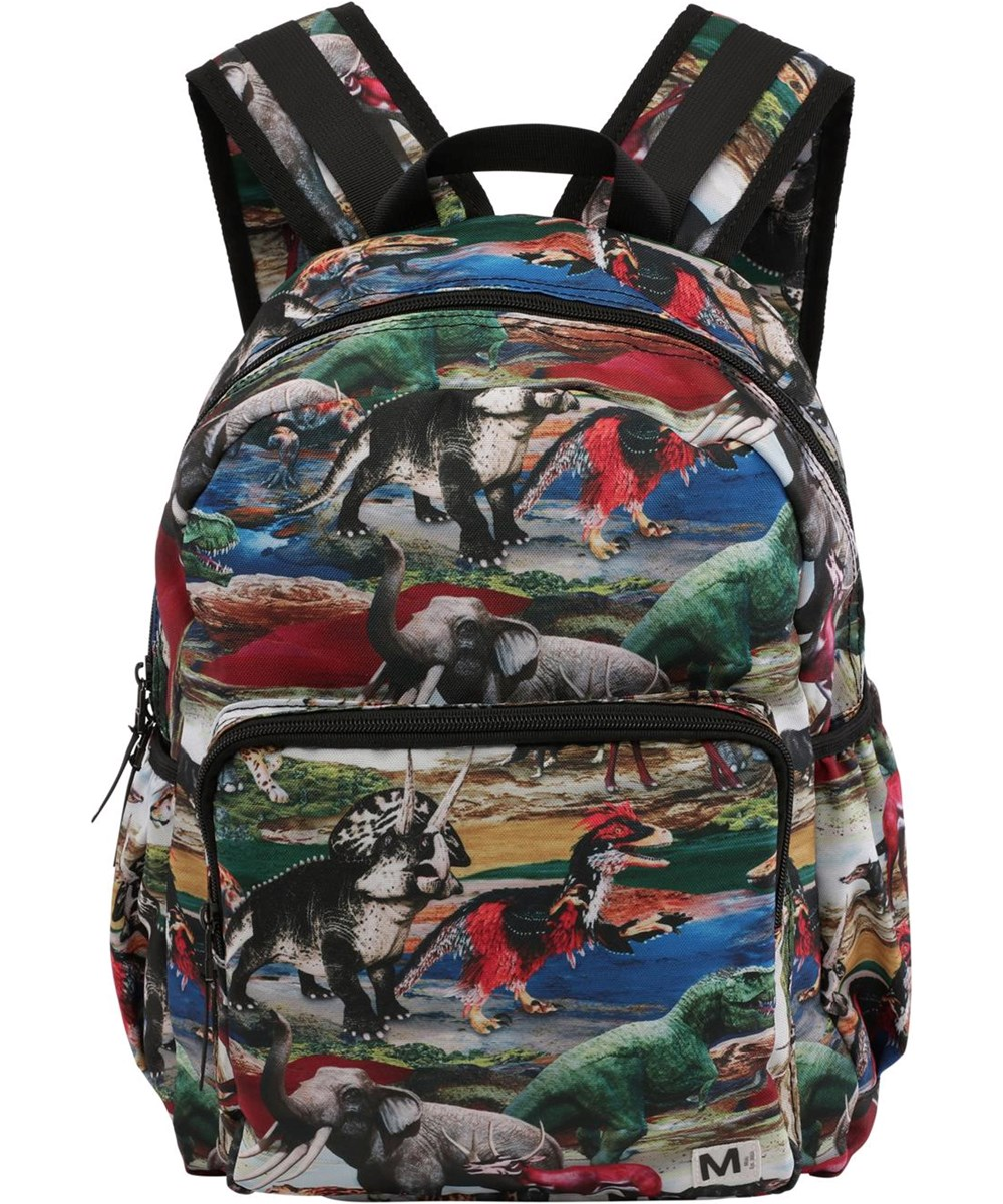 Big backpack - Ancient World - Recycled backpack with dinosaur print
