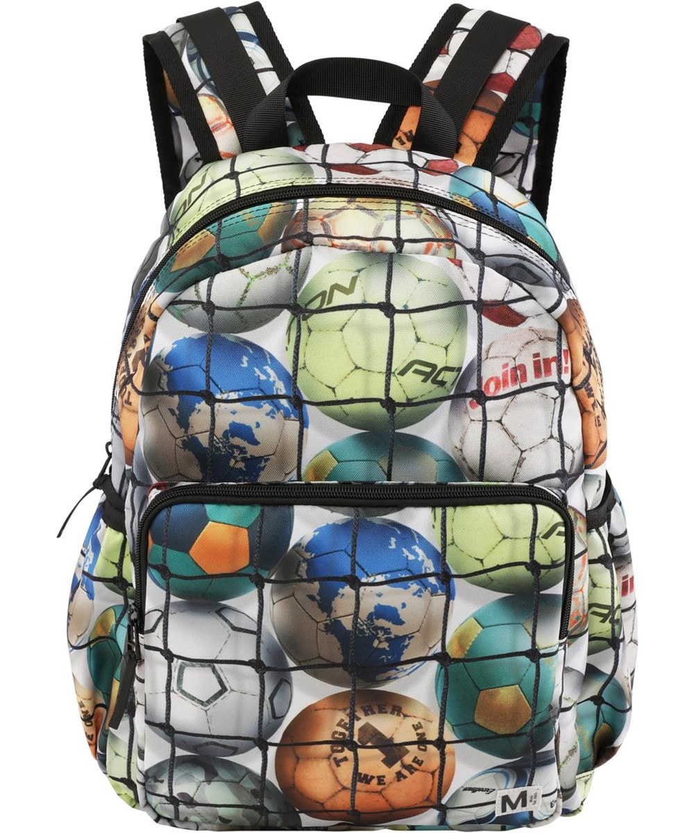 Big backpack - Footballs - Recycled backpack with football print