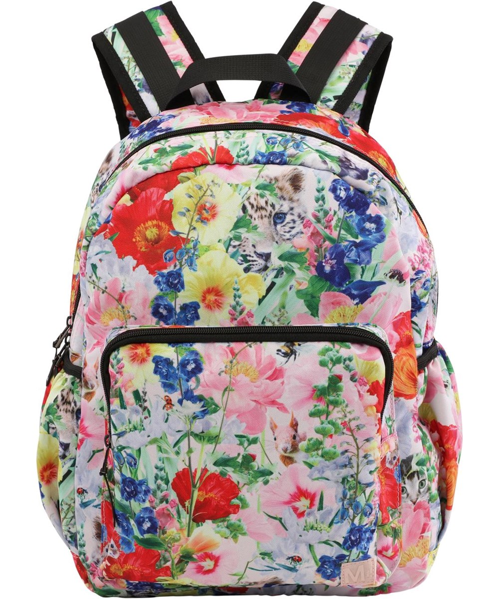 Big backpack - Hide And Seek - Recycled backpack with floral print