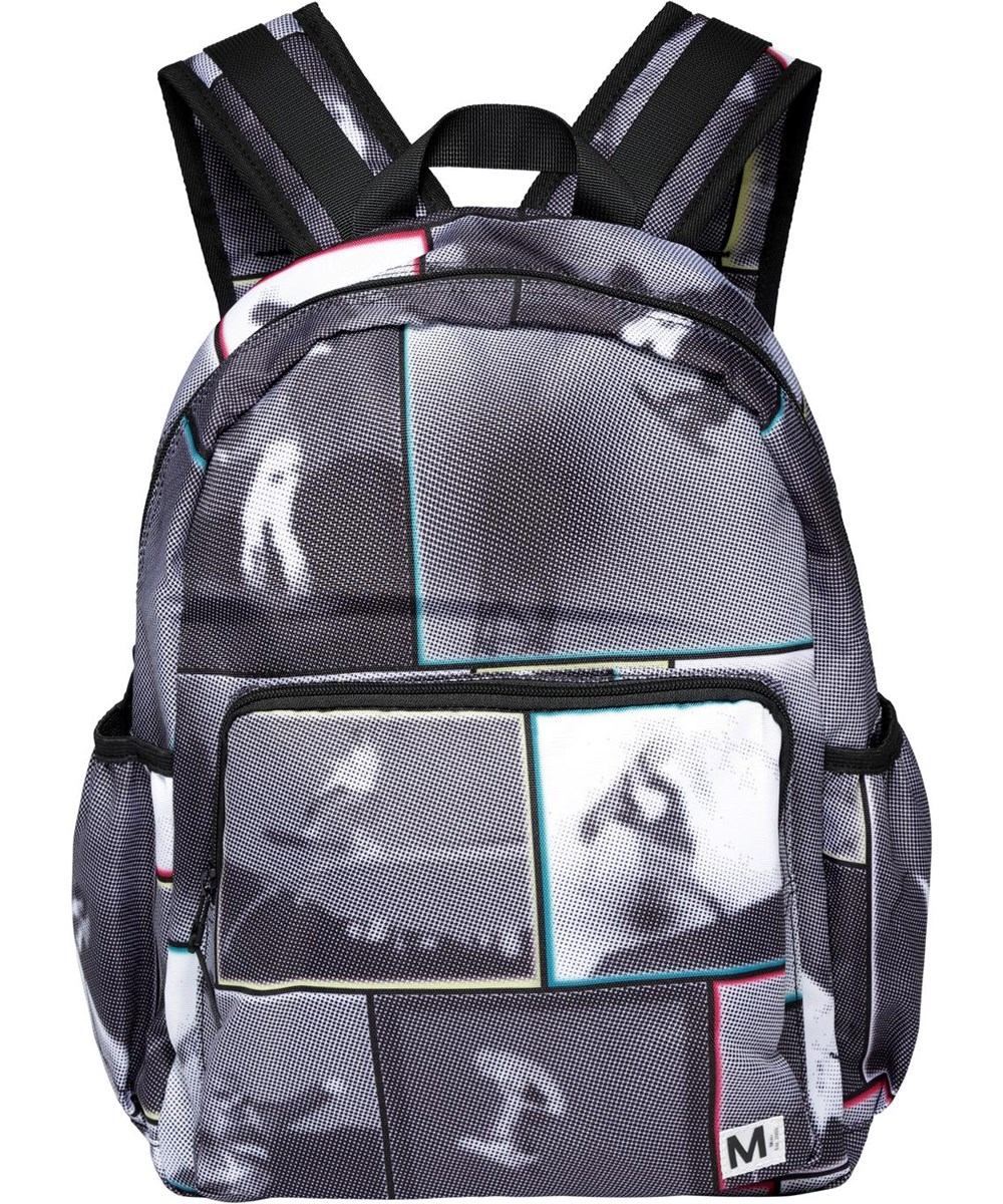 Big Backpack - Snowboarding2 - Recycled rucksack with snowboarder print