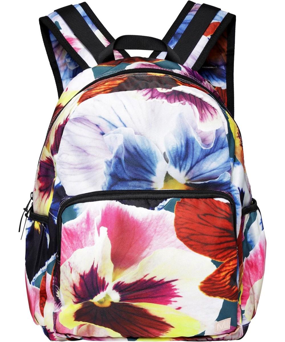 Big Backpack - Velvet Floral - Recycled rucksack with floral print