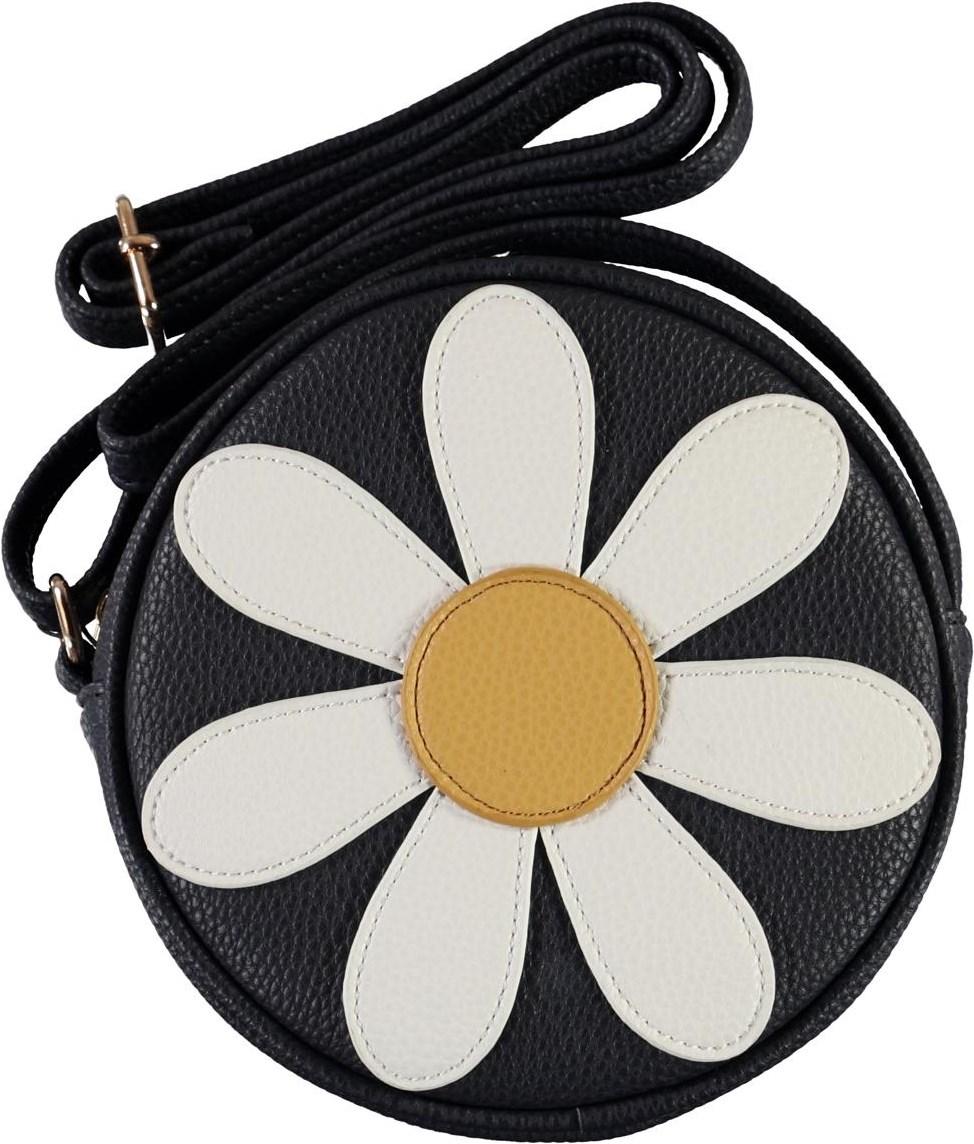 Daisy Bag - Total Eclipse - Round, dark blue flower bag