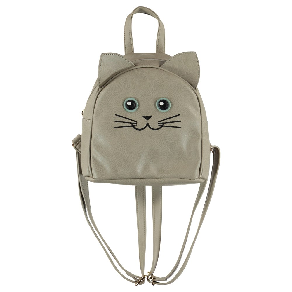 Kitty Backpack - Dappled Grey - Cat backpack with ears.