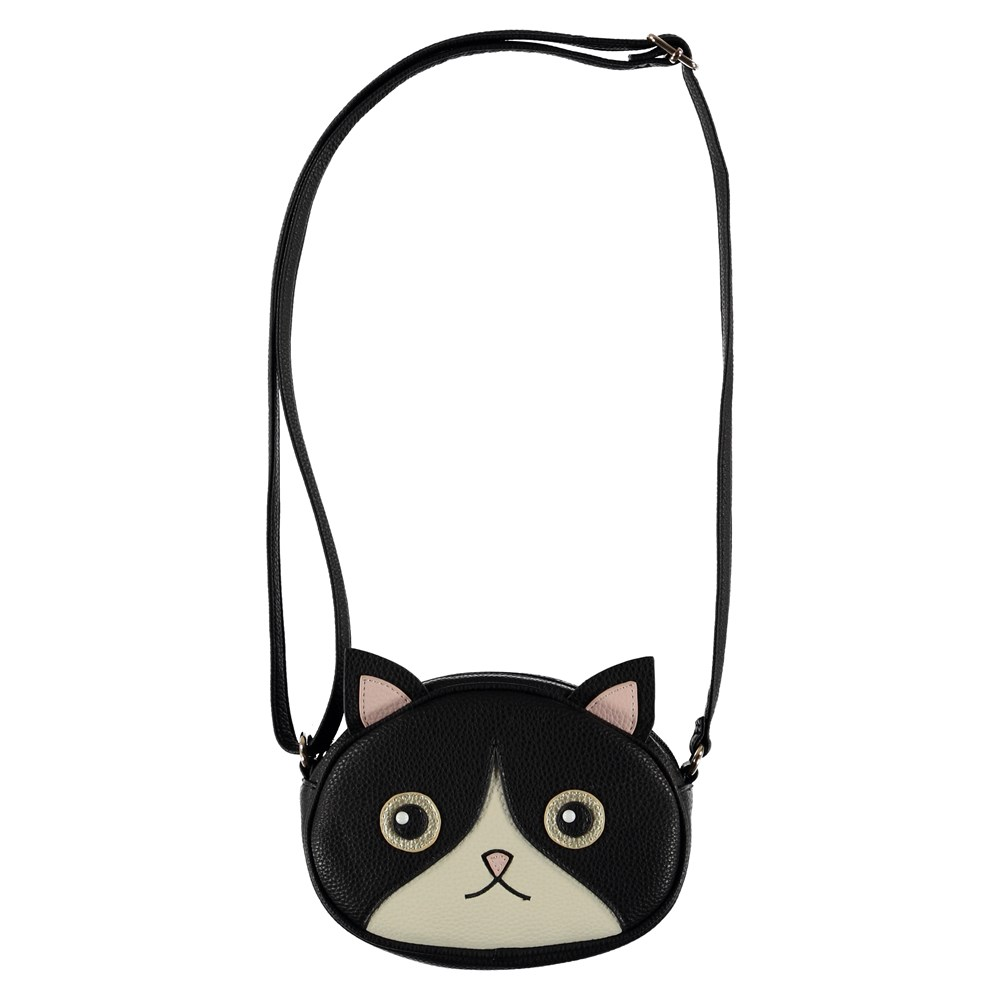 Kitty Bag - Black - Cross body cat bag.