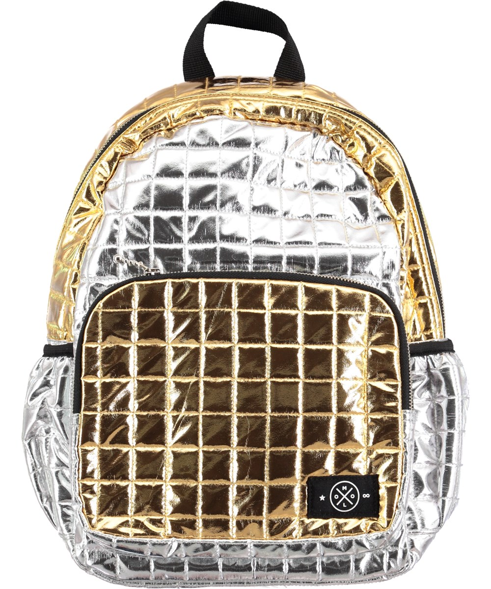 Quilted Rucksack - Block Silver Gold - quilted backpack in gold ... : quilted rucksack - Adamdwight.com
