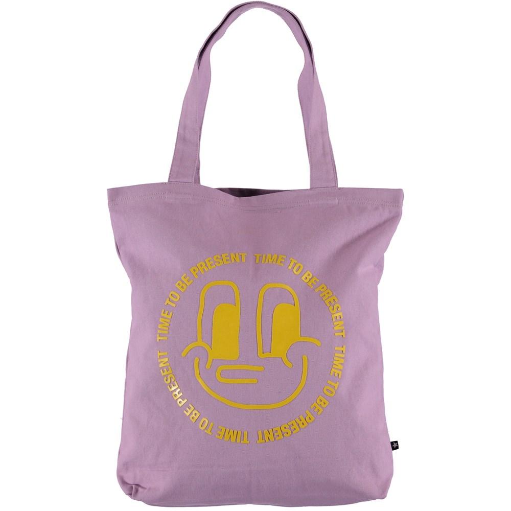 Tote Bag - Alpine Flower - Purple tote bag with anniversary print.