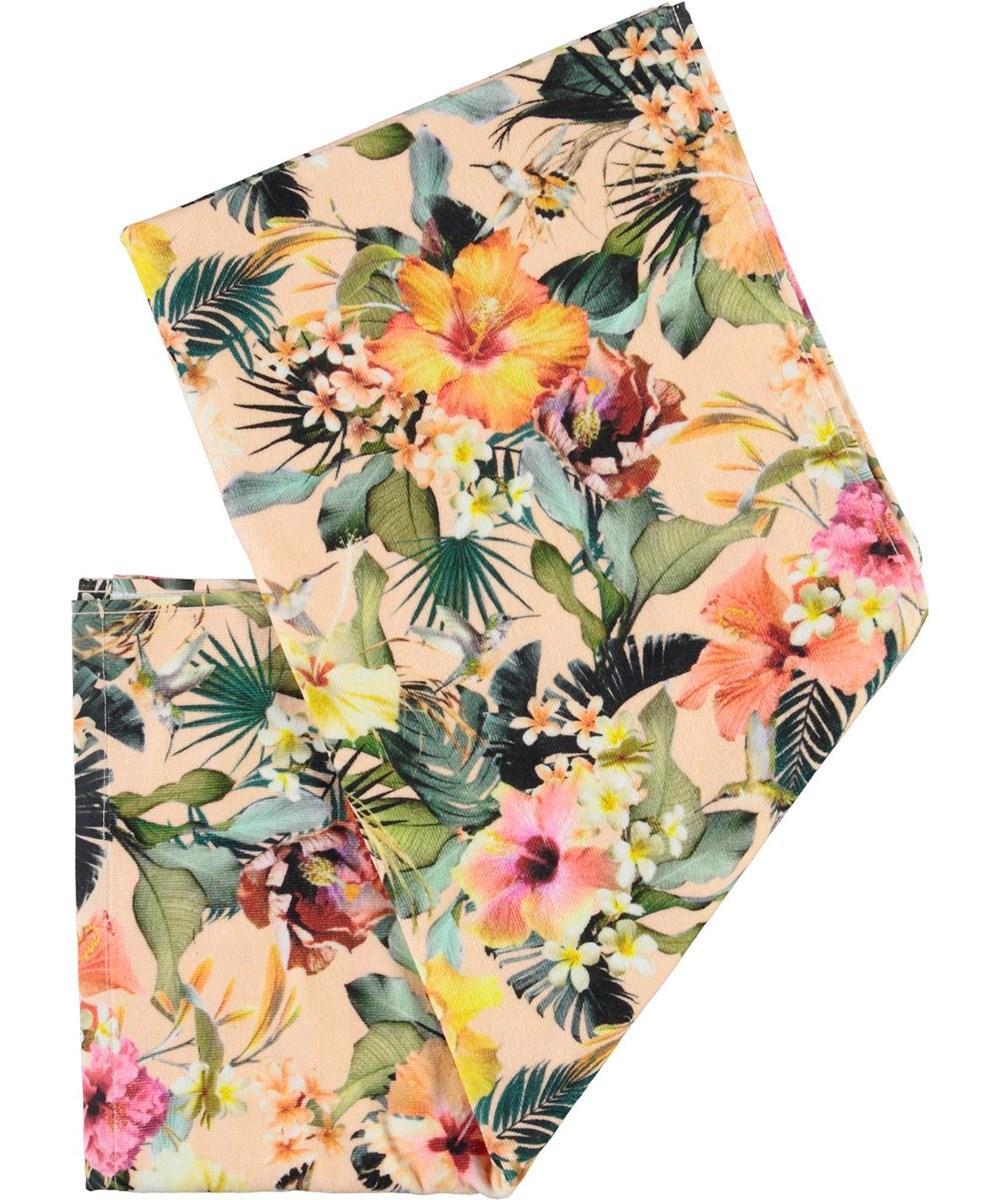 Beach Towel - Big Hawaiian Flowers - Badehåndklæde med blomster print