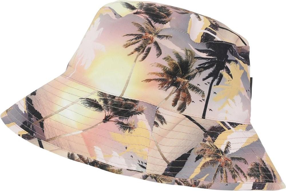Nadia - Sunset - UV bøllehat med palme print