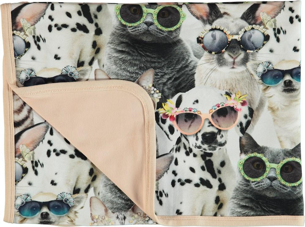 Neala - Sunny Funny - Bomulds tæppe med print af dyr.