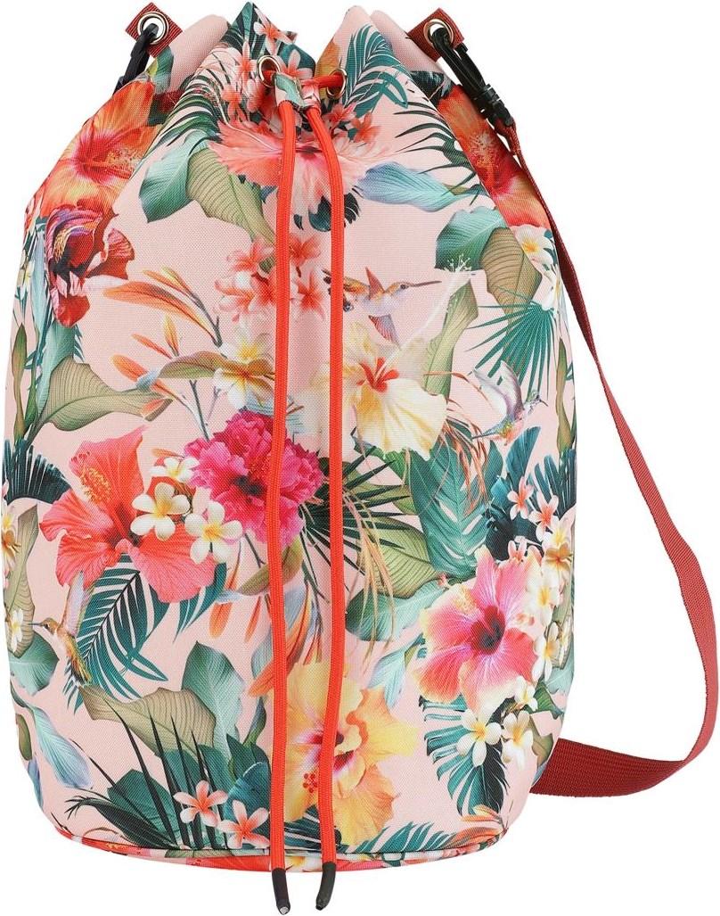 Nedo - Hawaiian Flowers - Strandtaske med blomster print