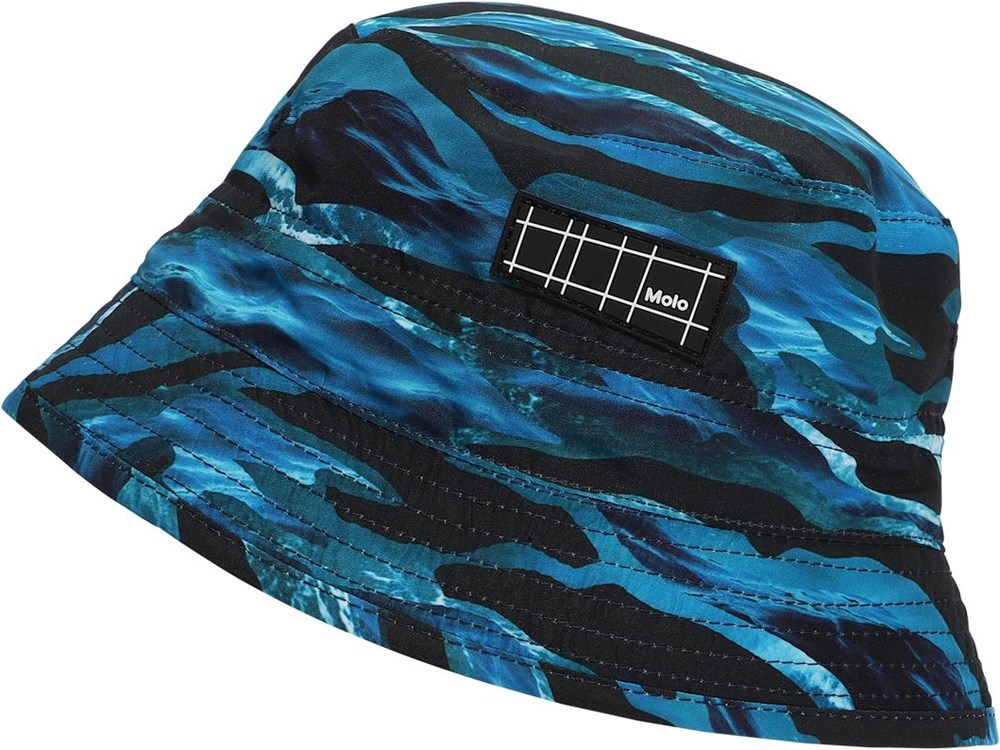 Niks - Camo Waves - UV bøllehat med bølge print