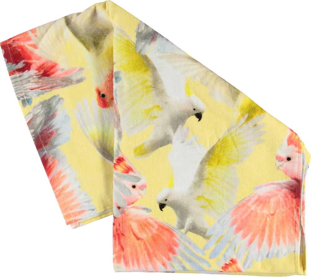 Beach Towel - Big Cockatoos - Beach towel with parrots