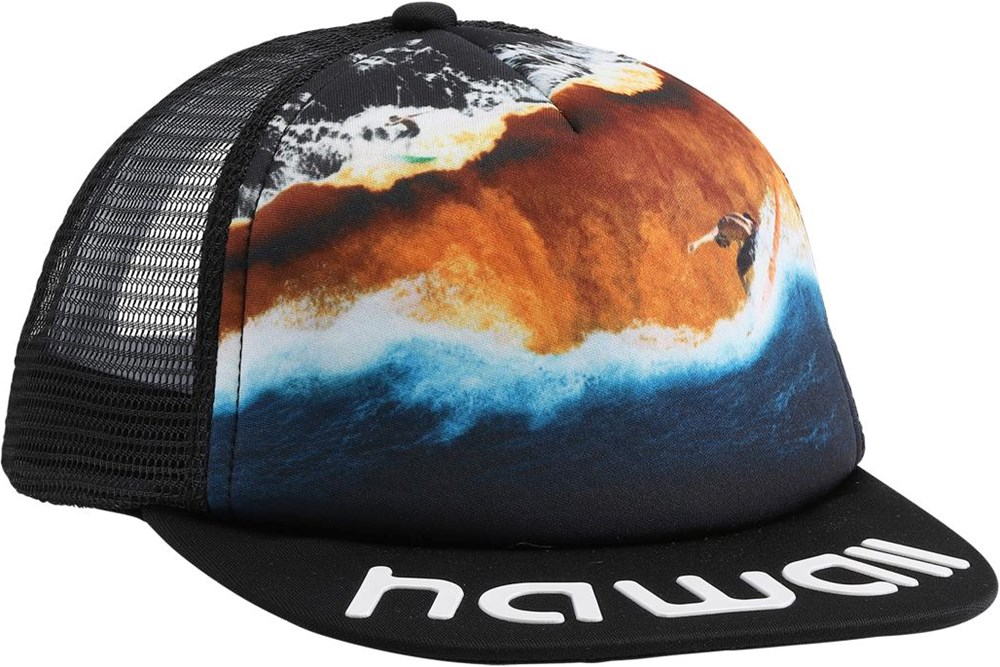 Big Shadow - Colour Block Waves - Cap with surfer and waves
