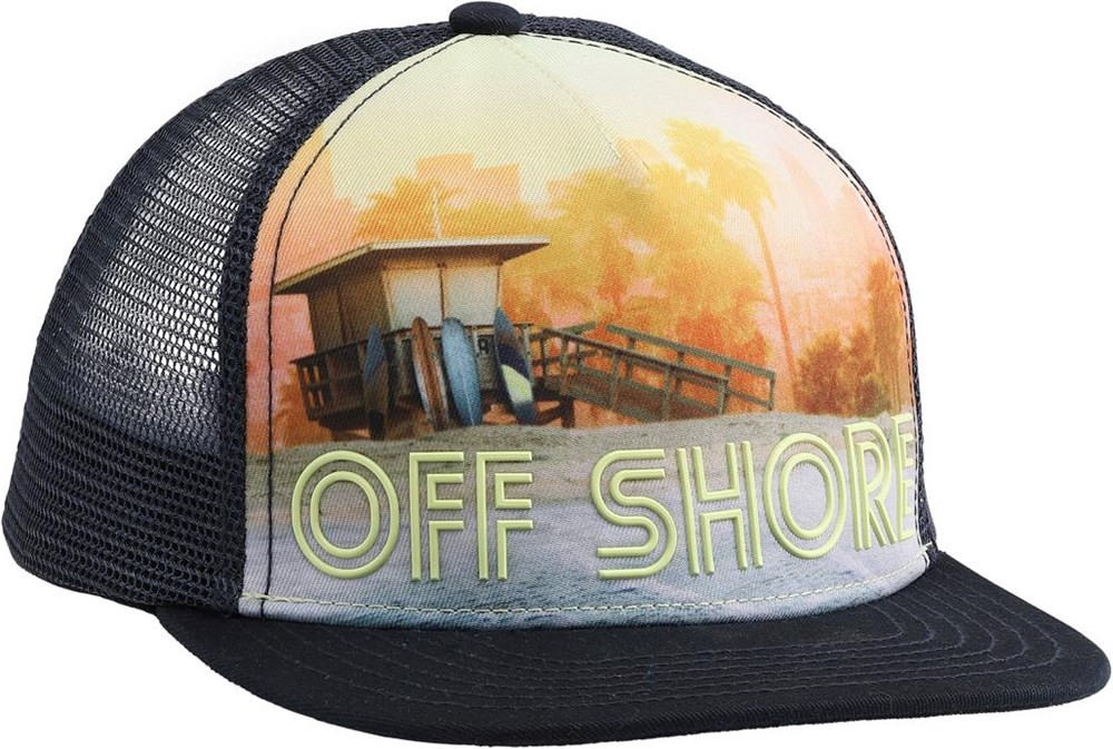 Big Shadow - Off Shore - Cool cap with beach and palm trees