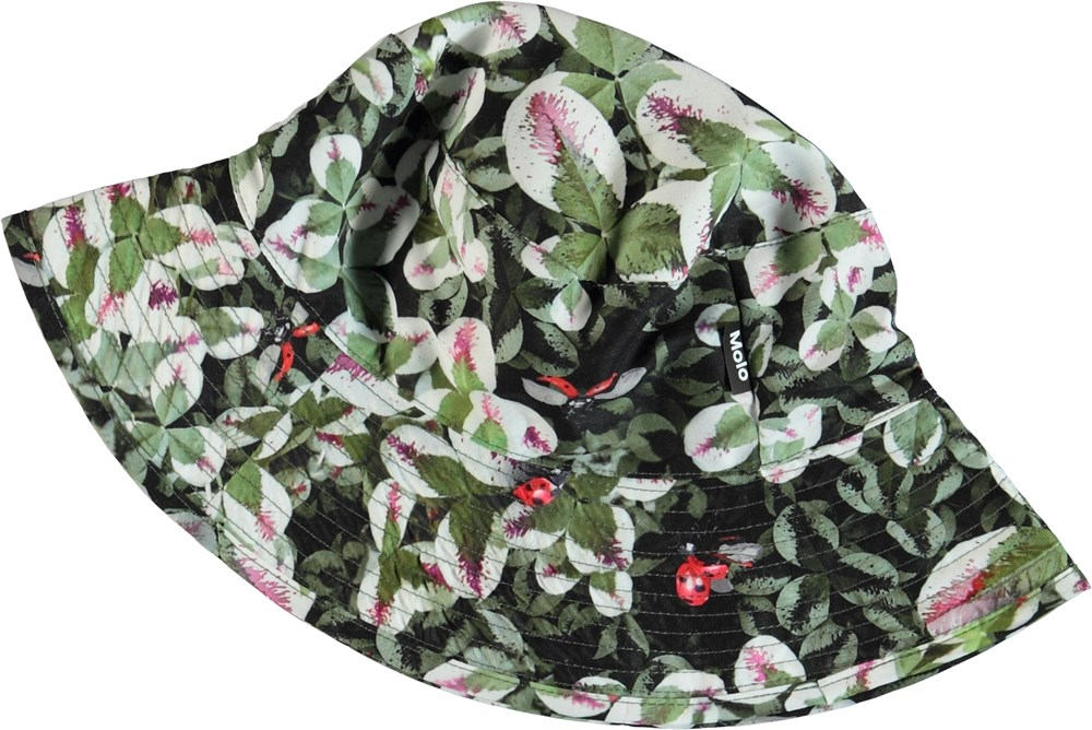 Nadia - Clover - Green bucket hat with clovers.