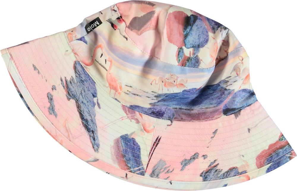Nadia - Flamingo - Bucket hat with flamingos.