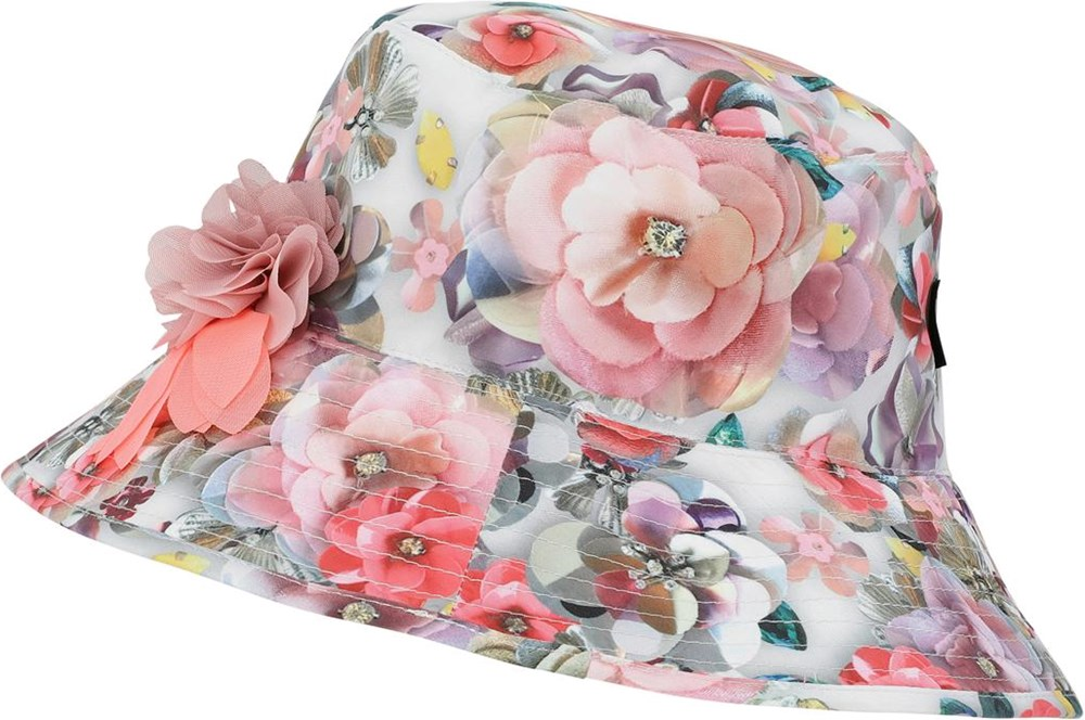 Nadia - Sequins Flowers - UV bucket hat with floral print