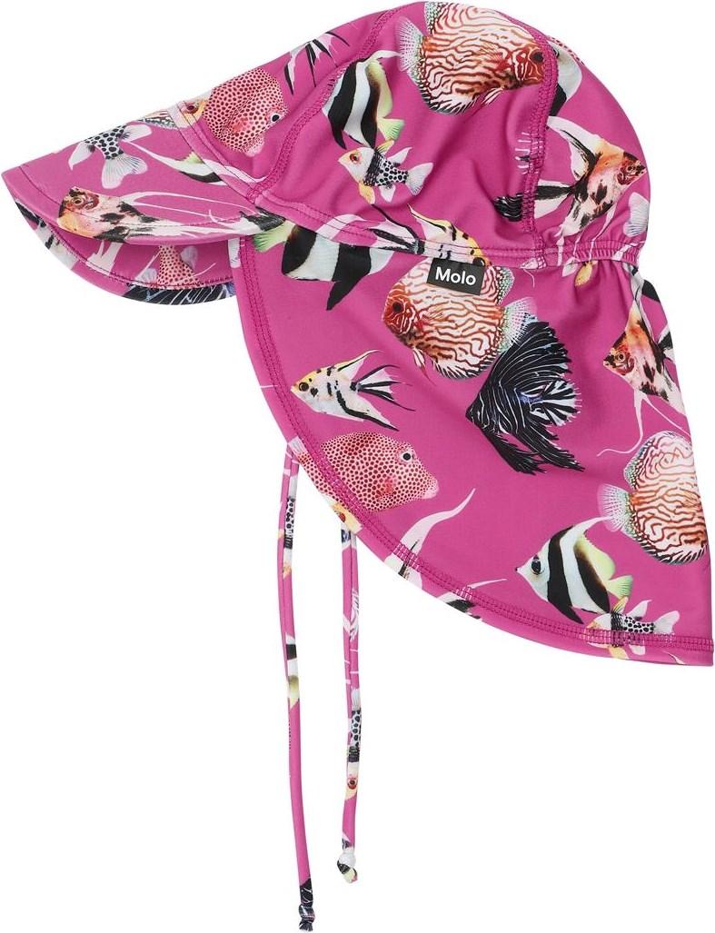 Nando - Beauty Of The Sea - UV baby sun hat with fish print