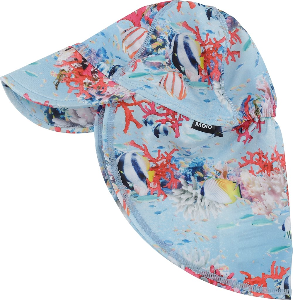 Nando - Coral Stripe - Sunhat with fish and coral