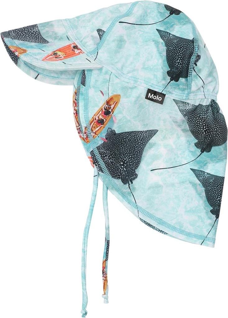 Nando - Hawaiian Ocean - UV baby sun hat with stingrays