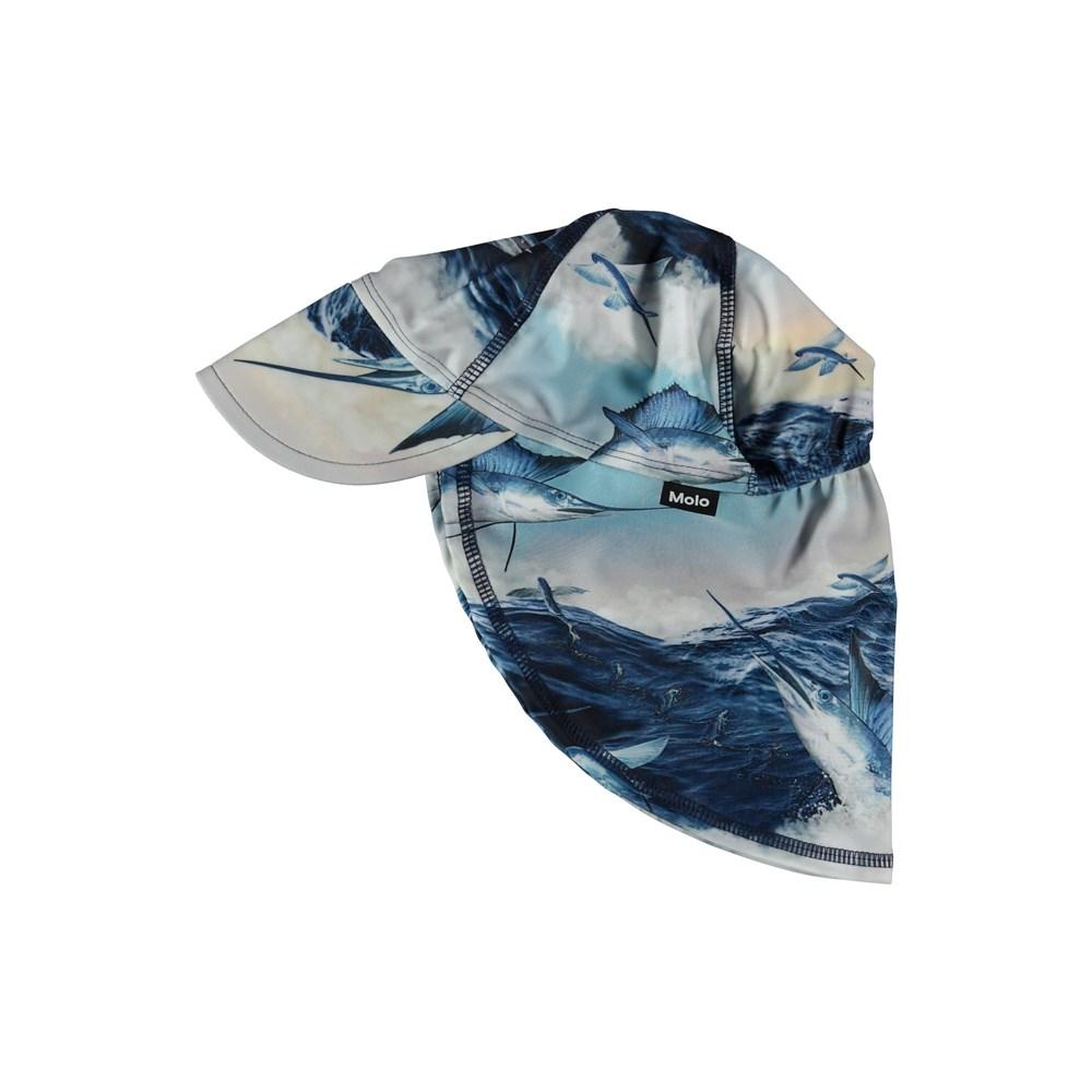 Nando - Jumping Svordfish - UV sunhat with swordfish.